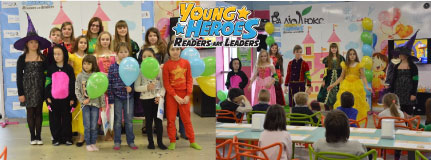 Young Heroes. Readers are leaders