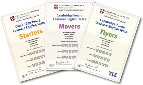 Cambridge Exams certificate
